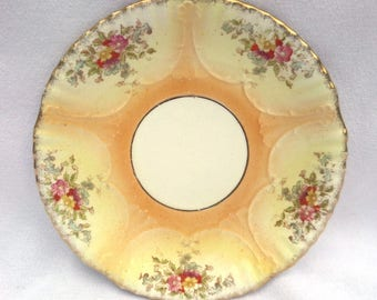 Victorian Cake Plate, Antique English Porcelain, Hand Painted Victorian Porcelain 1884-87, Sampson Bridgwood & Son