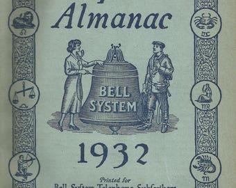 1932 Bell Telephone Company Almanac Complete