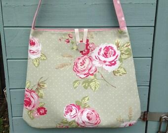 Bo ho bag, slouch bag, festival bag, cross body bag, fabric bag, handmade bag, floral bag,bags,uk sellers only, Summer bag, handmade only,