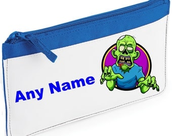 Personalised ZOMBIE Pencil Case *Pink/Blue/Red/Black*