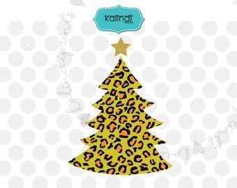 Leopard print christmas tree svg, leopard Christmas svg, animal print svg, holiday svg, christmas svg, merry christmas svg    cr45