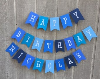 Little Blue Truck Birthday Banner. Little Blue Truck Birthday Decorations. Fully Assembled Little Blue Truck Birthday Party Banner.