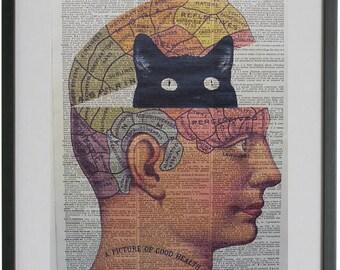 Cat Print No.469, cat poster, black cat print, funny cat poster, funny black cat, cat poster, cat art print, cat art, cat, cat wall art