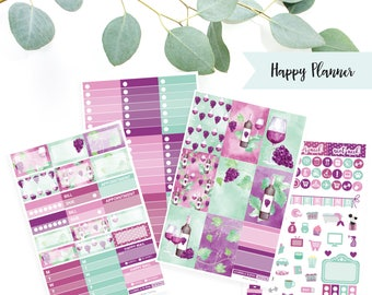 CLASSIC HP // Wine Tasting Weekly Sticker Kit // Planner Kit