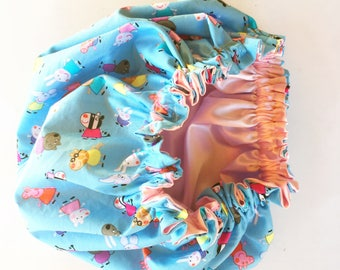 Peppa Pig satin lined bonnet