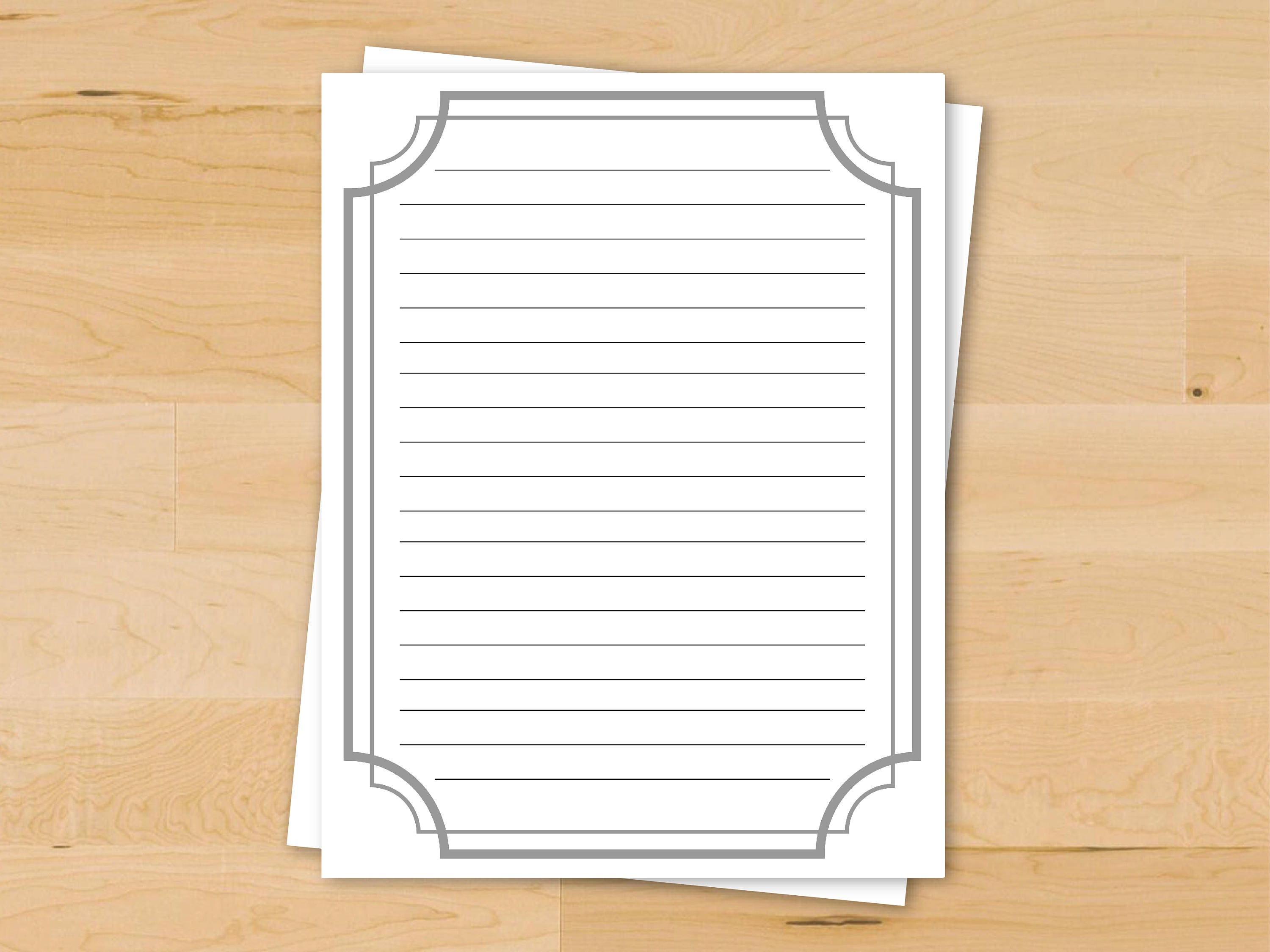 downloadable writing paper