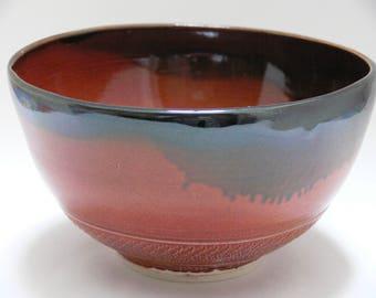 Red Serving Bowl - serving bowl - salad bowl - ceramic bowl - pottery bowl - handmade bowl - SierraAvisPottery