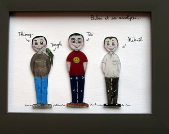 Frame family personalized perlinpinpot's. the brothers