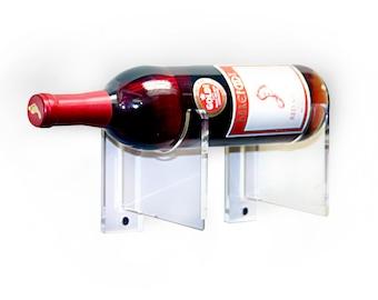 Deluxe Clear Acrylic Wine Bottle Display Bracket