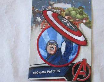 Pattern Marvel Captain america to put on your clothes thermocolant to put on your clothes or your children they love