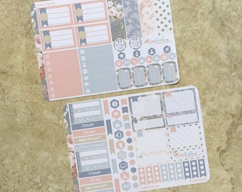 Sweet Nautical : Mini Weekly Sampler Sticker Kit   inkWELL Press Planner   Bound - A5 - Quarterly   LucKaty