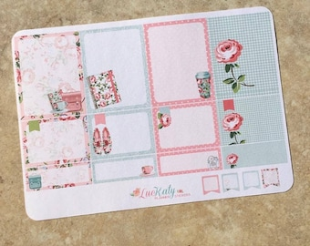 Rose Parade Box Set Planner Stickers for use with inkWELL Press or Erin Condren Planners   Vertical & Horizontal   LucKaty