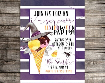 Digital Halloween Invitation, Halloween Party Invitation, Adult/Family Party Invitation-Printable Invitation