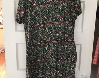 90s Style Drew Barrymore floral dress, XL