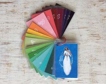 Illustrated Rosary Prayer Cards, Rosary Images, Catholic Kids Gift, Rosary Meditations, Catholic Art, Laminated Prayer Cards, Religious Ed