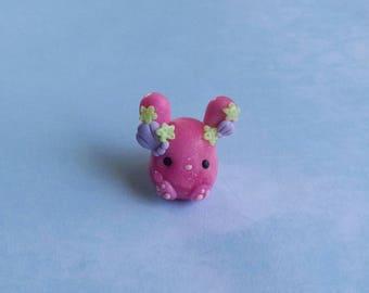 Pink Under water Glitter Bunnie