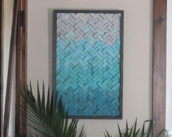 Wood wall art- wood wall art- herringbone- home decor- wooden wall art