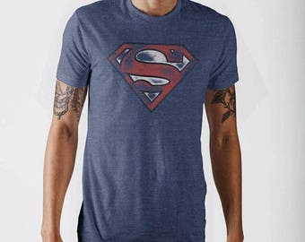 Mens Official Merchandise Superman Navy T-Shirt