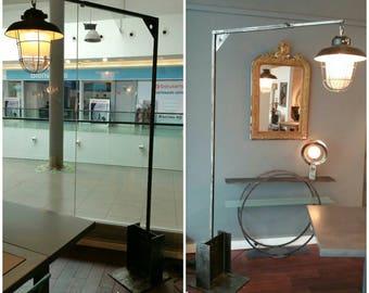 """""""Loft"""" industrial style metal floor lamp"""