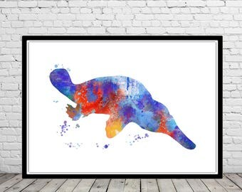 platypus ocean art sea life kids room decor nursery art platypus