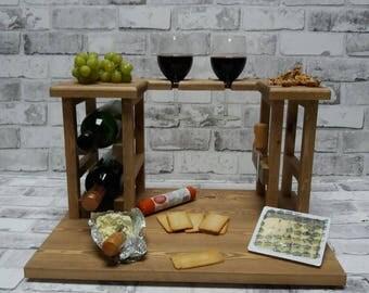 Cheese board, Christmas gift,wine rack,anniversary gift,wedding gift, birthday gift,gift for her,gift for him,medium oak
