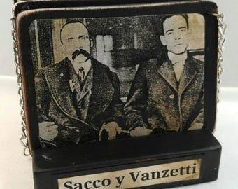 Sacco y Vanzetti-assamblage-decoration-history-portrait-photography-vintage-human rigths-original-death-penalty