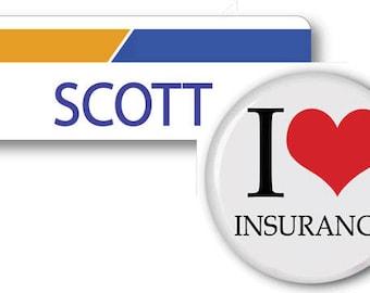 SCOTT From Progressive Insurance Halloween Costume Name Badge Tag pin Fastener & Button Ships ASAP FREE