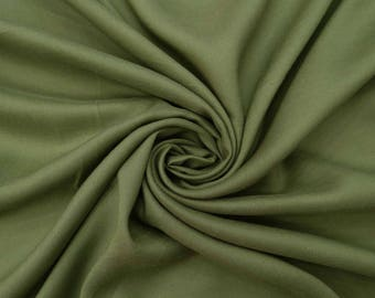 """Olive Green Cotton Fabric, Quilt Material, Craft Fabric, Ethnic Fabric, 55"""" Inch Cotton Fabric By The Yard ZBC8433A"""