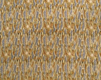 """Leopard Printed Fabric, Beige Color Fabric, Dress Material, Quilting Fabric, 42"""" Inch Polyester Fabric By The Yard ZBP16A"""