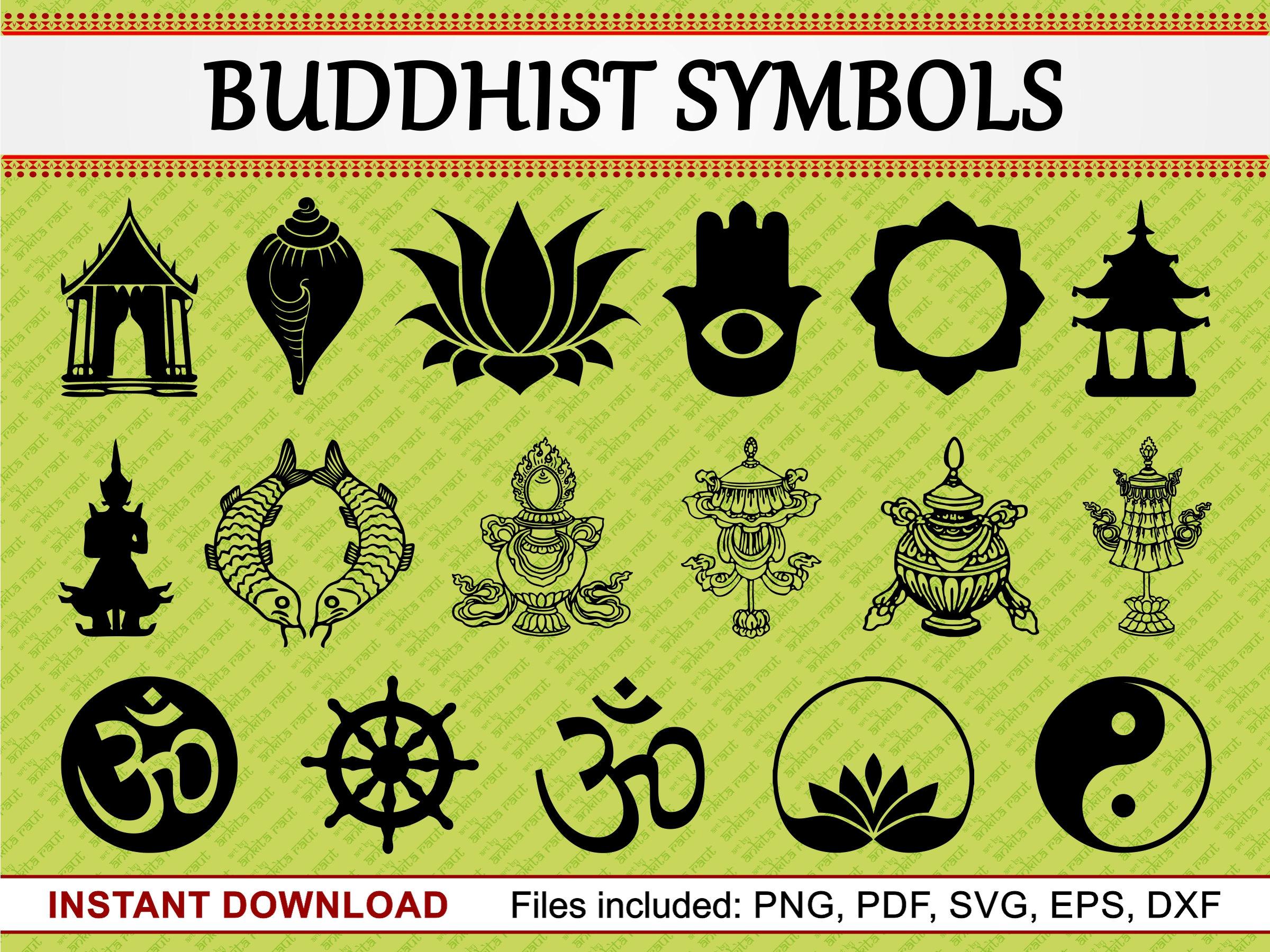 Buddhist Symbol Lotusakra Vishuddha Stock Vector Illustration Of