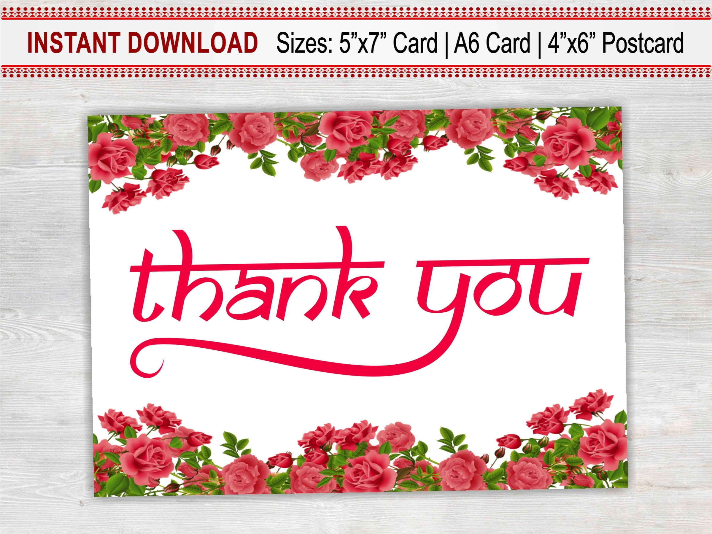 Thank you card printable floral card thank you boss bridesmaid thank you card printable floral card thank you boss bridesmaid flower girl izmirmasajfo