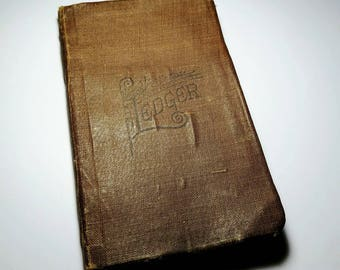 Antique Hand-Written Ledger Journal