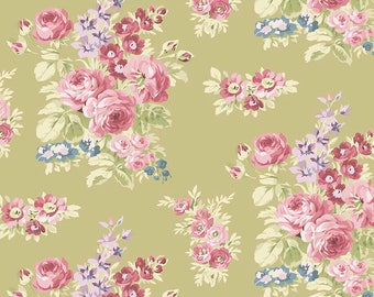 SALE Anne of Green Gables Floral Green - Riley Blake Designs - Penny Rose Fabrics -Flowers -Quilting Cotton Fabric - choose your cut