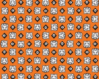 SALE Cub Scouts Tiger Orange - Riley Blake Designs - Boy Scouts Paws - Quilting Cotton  sc 1 st  Etsy & Tiger paw fabric | Etsy
