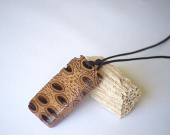 Rustic pendant-wood pendant, wooden necklace, pendant necklace, gift for her, unique gift, australian necklace, banksia, australian pendant