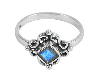 Fairy Ring Silver 925 Moonstone natural