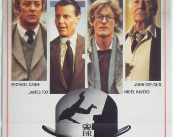 The Whistle Blower - 1986 - Original Australian daybill movie poster - Michael Caine - Nigel Havers