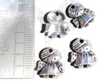 Charms X 5 Silver girl pendant