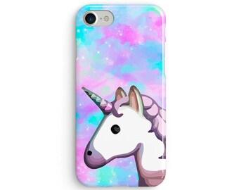 Unicorn emoji space rainbow  iPhone X case - iPhone 8 case - Samsung Galaxy S8 case - iPhone 7 case - Tough case 1P043
