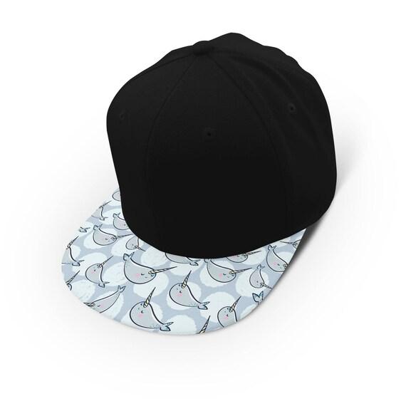 Kawaii manatee narwhal snapback cap - hat - baseball cap 5P004