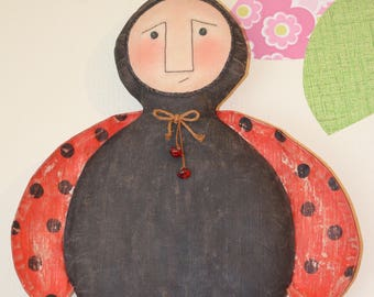 Primitive Lady Bug Doll