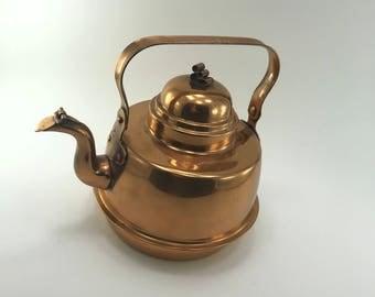 Kungsör Copper Kettle Vintage Swedish Design Scrolled Finial 1.5l