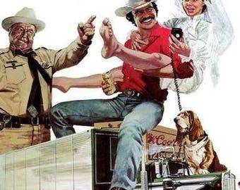 Smokey and The Bandit Movie Burt Reynolds Sally Field  Rare Vintage Poster