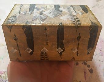 Upcycled trinket jewelry box