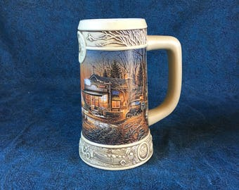 "Vintage Miller Brewing 1997 Collectors Beer Stein, Ducks Unlimited Terry Redlin Collection, ""Welcome to Paradise"""