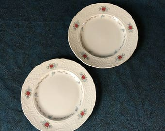 Vintage Johnson Brothers Caroline Bread and Butter Plates, Set of 2