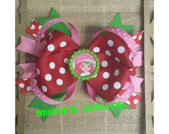 Strawberry shortcake hair bow,Strawberry shortcake birthday,Strawberry shortcake dress,Strawberry shortcake birthday shirt,Strawberry party