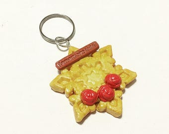 Red Rose Snow Flake Cookie Charm