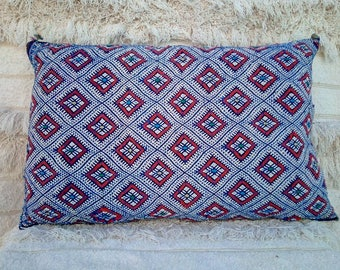 Decorative vintage Berber pillow Case, handmade.