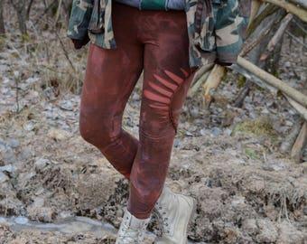 Festival Wear/Cut Out Leggings/Yoga Wear/Braided Leggings/Festival Wear/Unique Leggings/Hand dyed Leggings/
